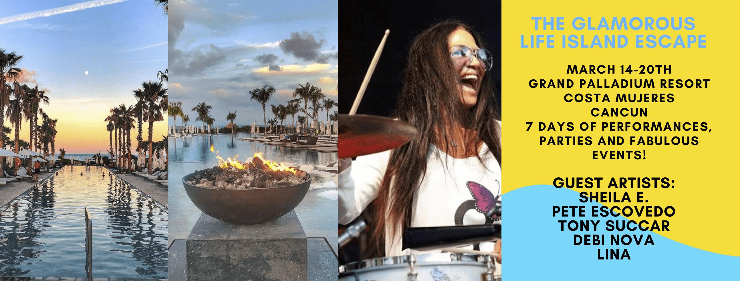 Sheila E. and Friends Glamorous Life Island Escape, March 14-20th, 2019